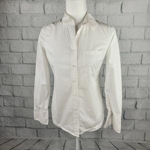 J. Crew - perfect fit white button down shirt